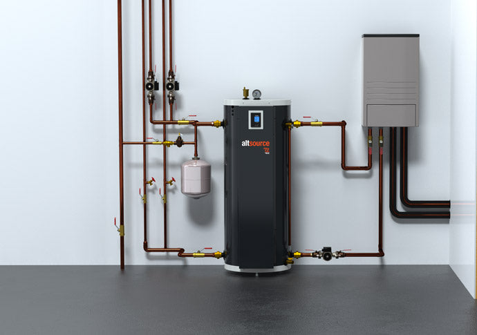air to water heat pump combination