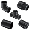 Black PVC Pipes and Fittings