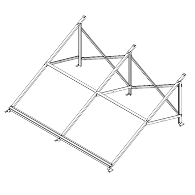 Frame Support Kit for Evacuated Tube Solar Collector