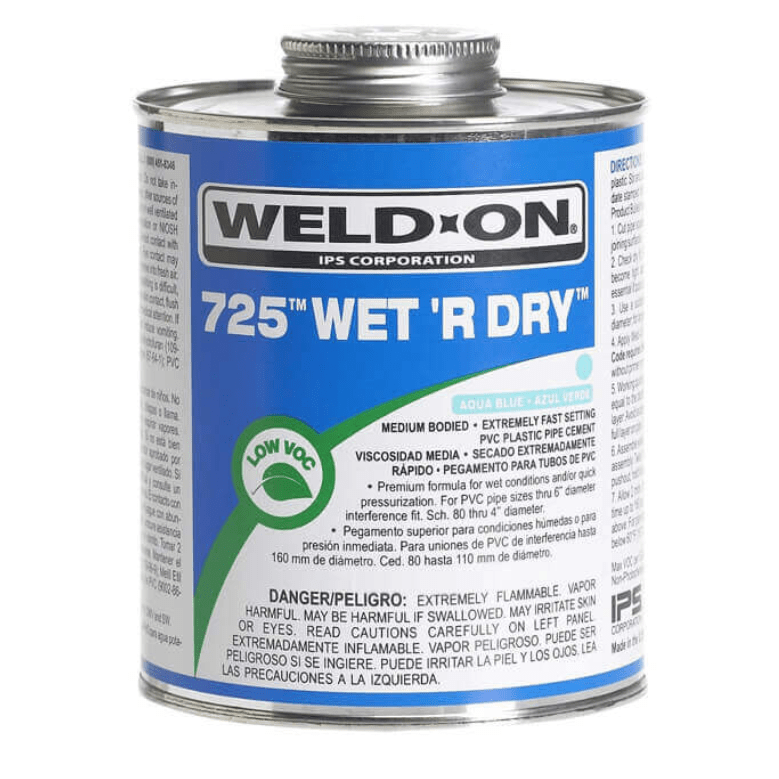 PVC GLUE - Weld-On 725 Wet R Dry Cement