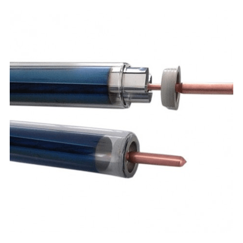 Vacuum Tube Set: Glass, Fin & Copper Tube for 58mm Diameter, 1800mm Long Vacuum Tube Solar Collector