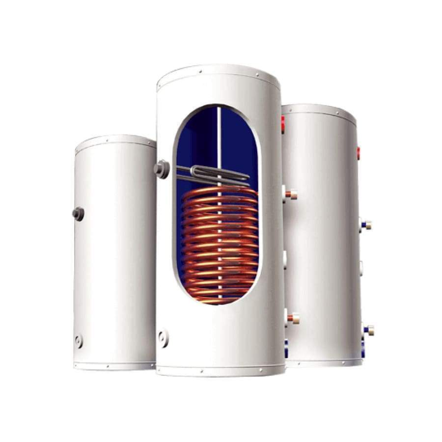 Single Bottom Copper Coil / Not Included 250L Solar Pressurized Water Tank with Immersed Coil Option