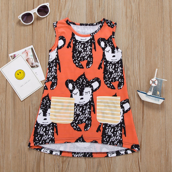Essie & Esben Summer Dress Graphic Print Toddlers Kids
