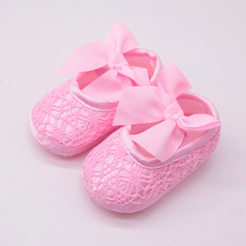 Bowknot Casual Shoes First Walkers Newborn Baby Girl