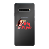 Big Piper Back Printed Transparent Hard Phone Case