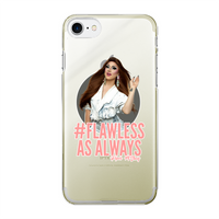 #Flawless As Always Back Printed Transparent Hard Phone Case