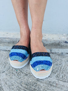 Multi Blue Glitter Sportform