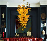 Flared Pulse Hand Blown Glass Chandelier - Grand Entrance Chandelier