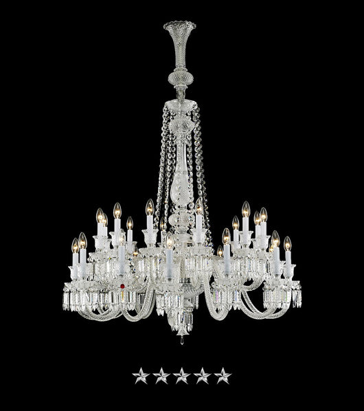 Princess Cut Crystal Chandelier - Grand Entrance Chandelier