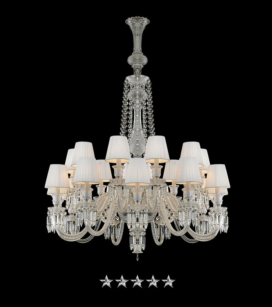 White symphony crystals chandelier grand entrance chandelier