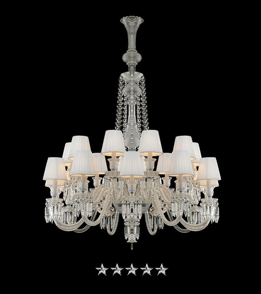 White Symphony Crystals Chandelier - Grand Entrance Chandelier