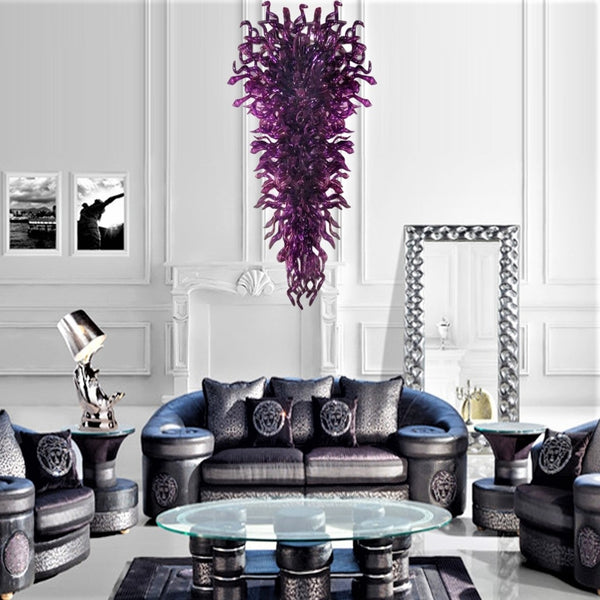 Purple Pulse Hand Blown Chandelier - Grand Entrance Chandelier