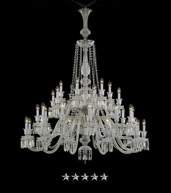 Expanded Peak Crystal Chandelier - Grand Entrance Chandelier