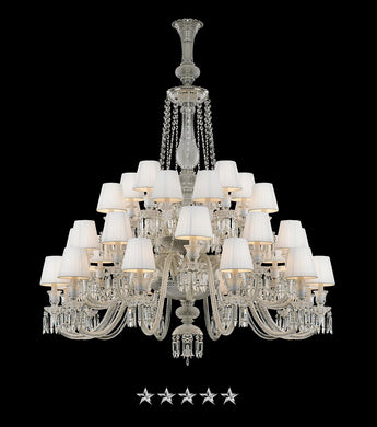 White Imperial Zenith Chandelier - Grand Entrance Chandelier