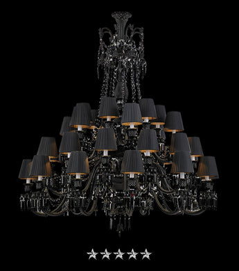 Black Imperial Zenith Chandelier - Grand Entrance Chandelier