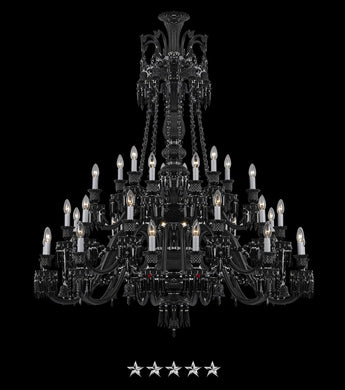 Extended Black Imperial Zenith Chandelier - Grand Entrance Chandelier