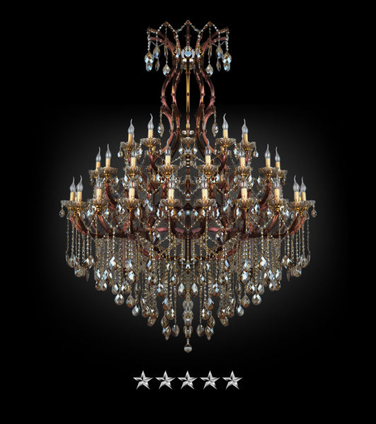 Maria Theresa Rustic Crystal Chandelier - Grand Entrance Chandelier