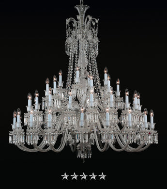 Crown Crystal Chandelier - Grand Entrance Chandelier