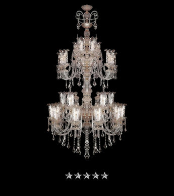 Etched Antique Crystal Chandelier - Grand Entrance Chandelier