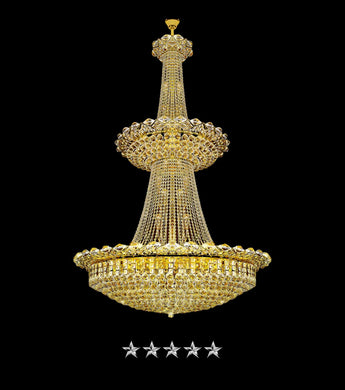 Golden Splendor Crystal Chandelier - Grand Entrance Chandelier