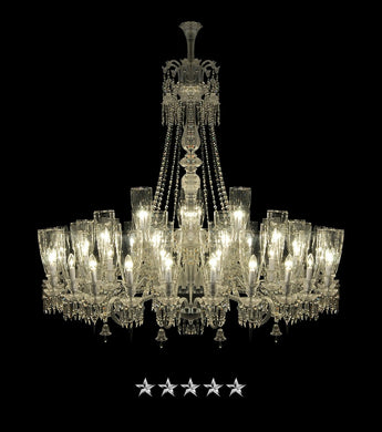 Crystal Clear Mille Nuits Chandelier - Grand Entrance Chandelier