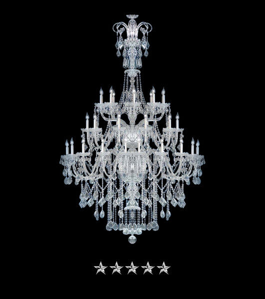 Classic Bohemian Chrome Chandelier - Grand Entrance Chandelier