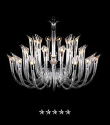 Deluxe Berna Clear Crystal Chandelier - Grand Entrance Chandelier