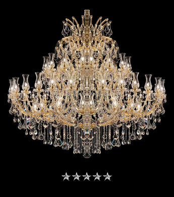 Maria Theresa Golden Glass Crystal Chandelier - Grand Entrance Chandelier