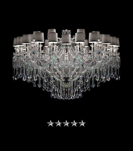 Maria Theresa Shaded Glass Crystal Chandelier - Grand Entrance Chandelier