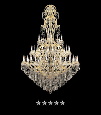 Maria Theresa Feathered Crystal Chandelier - Grand Entrance Chandelier