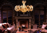 Honey Twister Flute Glass Chandelier - Grand Entrance Chandelier
