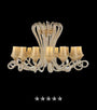 Champagne Octopus Crystal Chandelier - Grand Entrance Chandelier