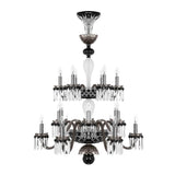 Saint Louis Vintage Harlequin 18 Light Crystal Chandelier - Grand Entrance Chandelier