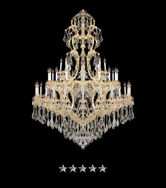 Maria Theresa Golden Ice Crystal Chandelier - Grand Entrance Chandelier