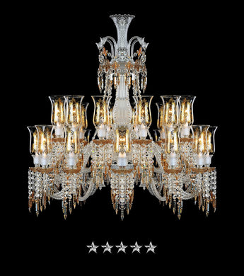 Majestic Villa Amber Chandelier - Grand Entrance Chandelier