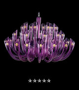 European Lavender Flute Glass Chandelier - Grand Entrance Chandelier