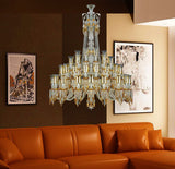 Mid-Majestic Tiered Amber Crystal Chandelier - Grand Entrance Chandelier