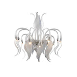 Venetian Petal Frosted Glass Chandelier - Grand Entrance Chandelier