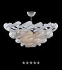 Frosted Tusk Glass Chandelier - Grand Entrance Chandelier