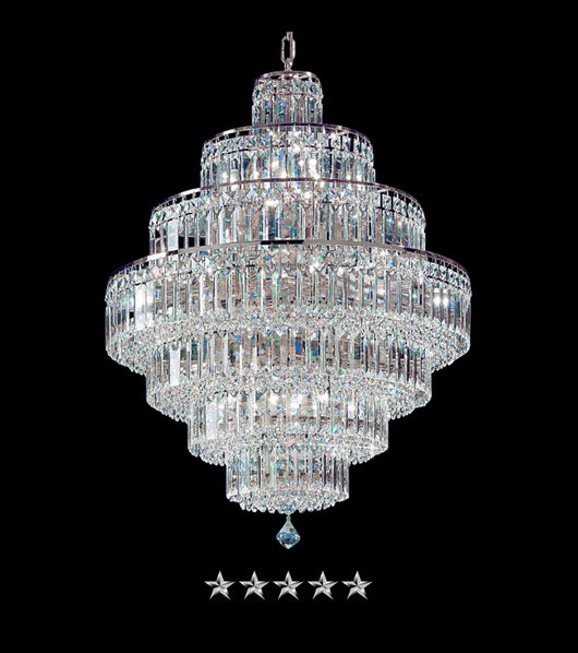 White Cascade Empire Chandelier - Grand Entrance Chandelier