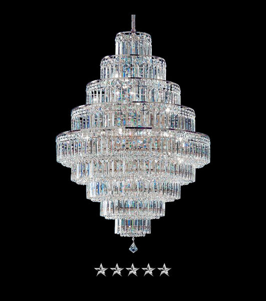 Crystal Cascade Empire Chandelier - Grand Entrance Chandelier