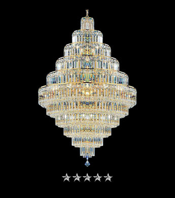 Golden Grand Crystal Empire Chandelier - Grand Entrance Chandelier