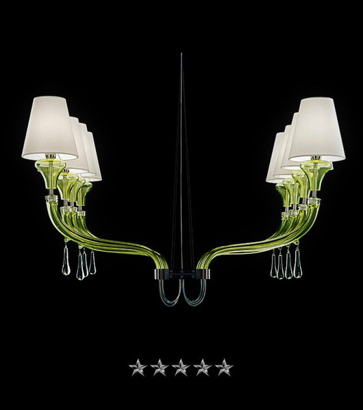 Lime Shade Row Murano - Grand Entrance Chandelier