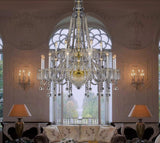Bohemian Gold Beaded Crystal Chandelier - Grand Entrance Chandelier
