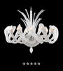 European Frosted Kelp Glass Chandelier - Grand Entrance Chandelier