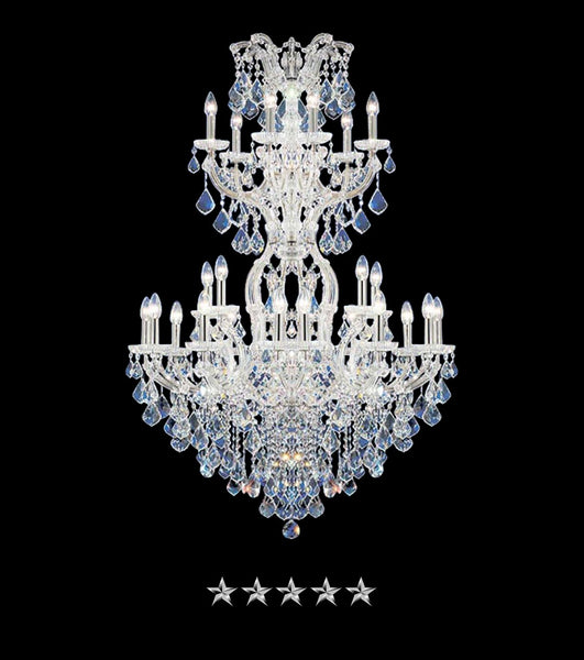 Maria Theresa Jewel Pendant Crystal Chandelier - Grand Entrance Chandelier