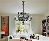 Saint Louis Metallic Harlequin 18 Light Crystal Chandelier - Grand Entrance Chandelier