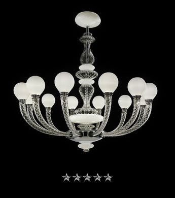 Pigalle Murano Chandelier - Grand Entrance Chandelier