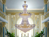 Golden Glitter Empire Chandelier - Grand Entrance Chandelier