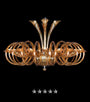 European Honey Ring Flute Glass Chandelier - Grand Entrance Chandelier